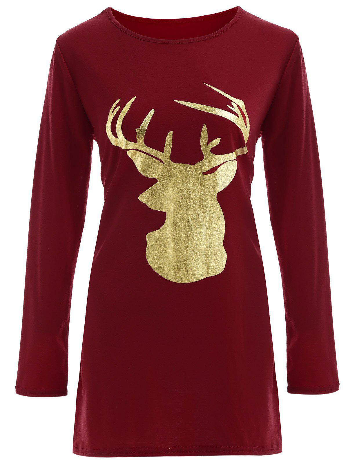 Reindeer Christmas Tee Dress 203491001