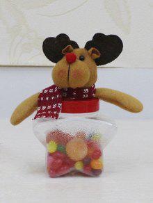 عيد الميلاد لعبة نجم شكل الحلوى جرة - شفاف