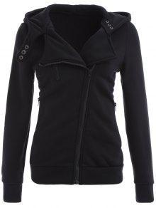 Buy Zip Hoodie - BLACK XL