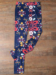 التخسيس صغيرة اللباس نمط الزهور - الأرجواني الأزرق M
