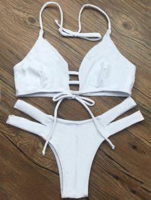 Bikinis Lacé Maillot De Bain Blanc - Blanc L