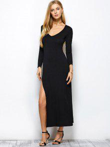 Long sleeve dress with two splits