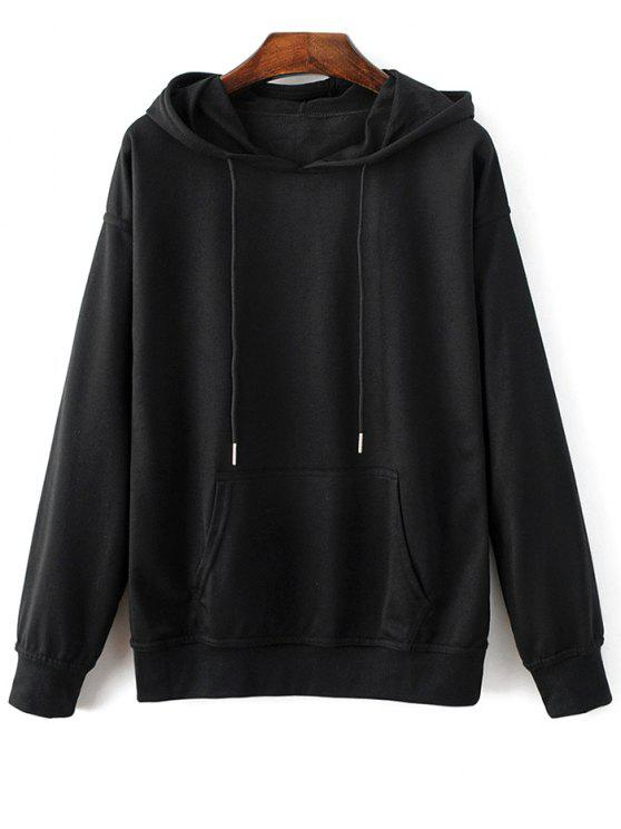 buy Casual Bat-Wing Sleeve Hoodie - BLACK M