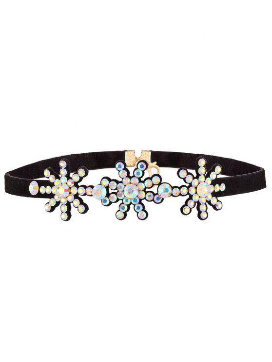 Snowflake Strass-Hals - Farbig