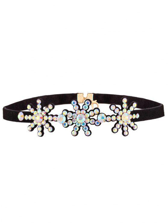 fashion Snowflake Rhinestone Choker - COLORFUL