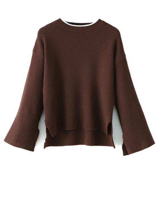 De mayor a menor de hendidura OversizedSweater - Café Única Talla