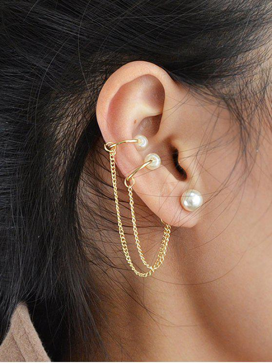 shop ONE PIECE Artificial Pearl Earring - GOLDEN