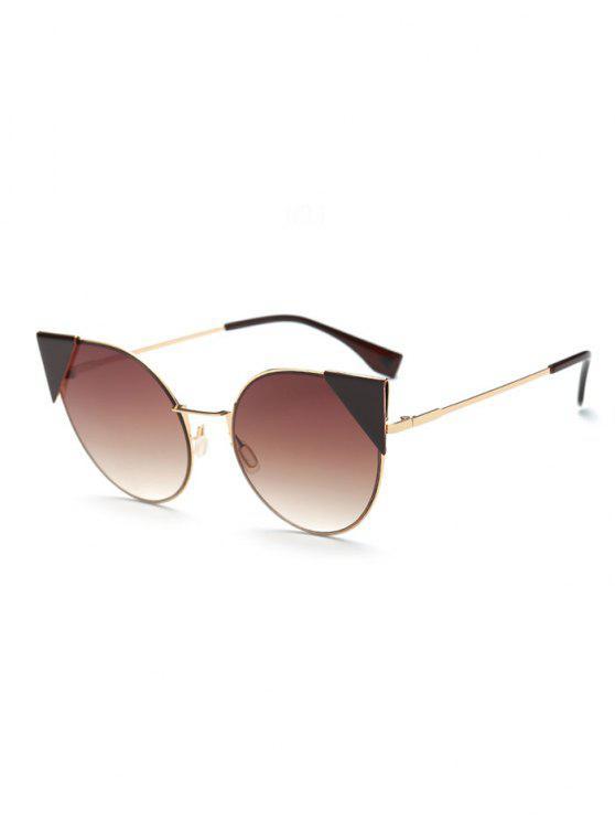 Triángulo de inserción gafas de sol del ojo de gato - Té