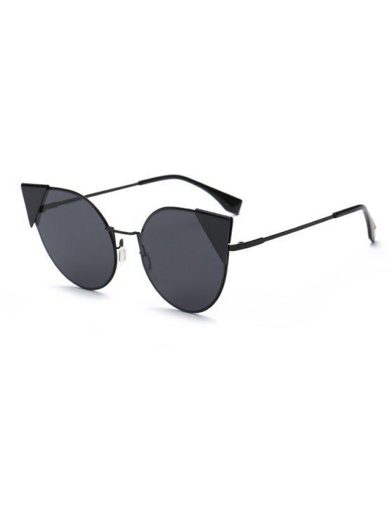 Triángulo de inserción gafas de sol del ojo de gato - Negro