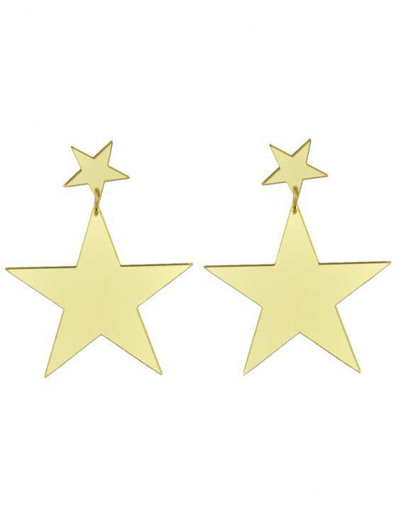 womens Star Earrings - GOLDEN