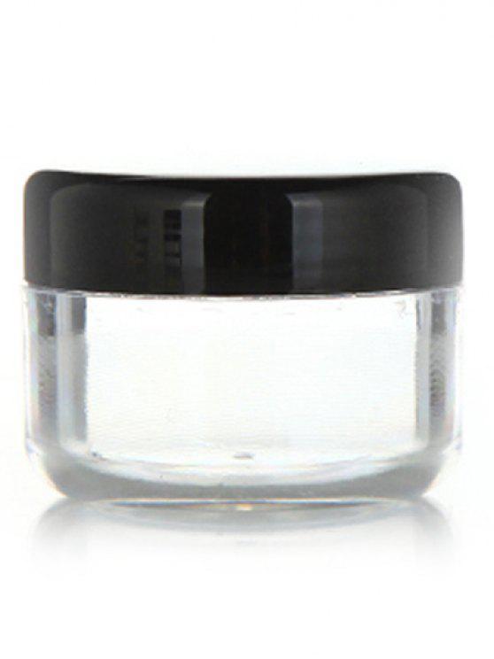 lady 2 Pcs Travel Cosmetic Empty Jars - BLACK