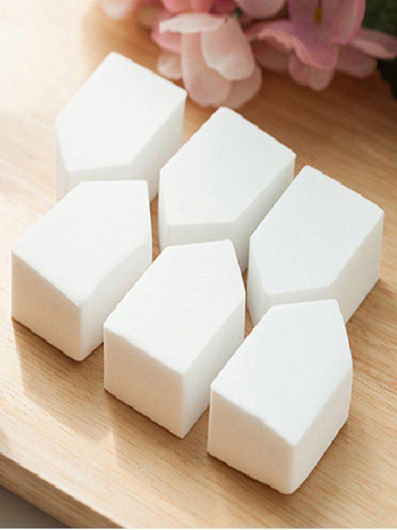 hot 6 Pcs Powder Makeup Sponges - WHITE