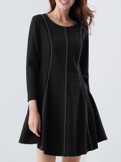 A-Line Robe Moulante  - Noir S