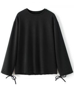Sweat-shirt Surdimensionné Imprimé  - Noir S