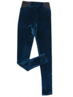 Terciopelo Pantalones Pies Estrechos - Azul Profundo M