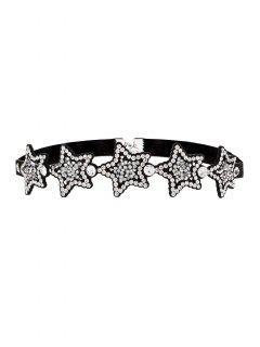 Collier Ras-du-cou En Strass Et En Forme D'étoiles - Blanc