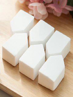 6 Pcs Powder Makeup Sponges - White