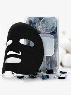 50 Pcs DIY Compressed Face Cotton Mask - Black