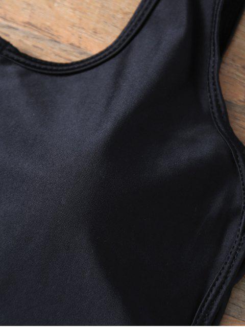 Maillot de bain dos nu avec zip avant - Noir S Mobile