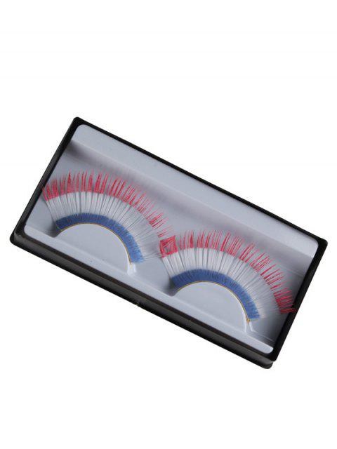 women French Flag False Eyelashes -   Mobile