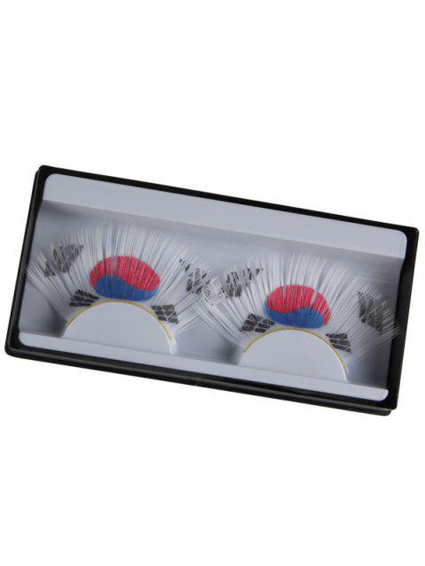 women's South Korean Flag False Eyelashes -   Mobile