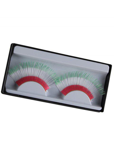 best Italian Flag False Eyelashes - WHITE  Mobile