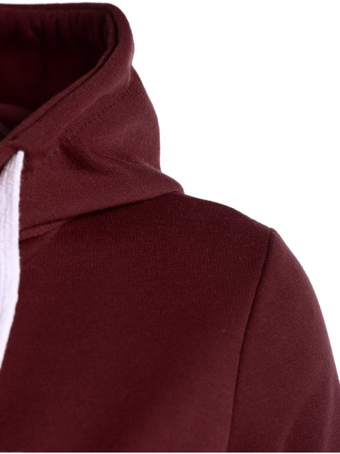 trendy Hangover Cropped Hoodie - BURGUNDY 2XL Mobile