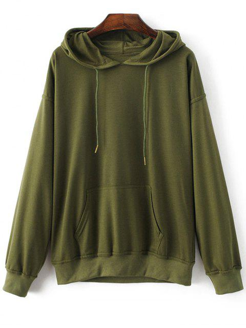 hot Casual Bat-Wing Sleeve Hoodie - ARMY GREEN S Mobile