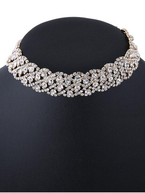 outfits Wedding Rhinestone Choker Necklace - GOLDEN  Mobile