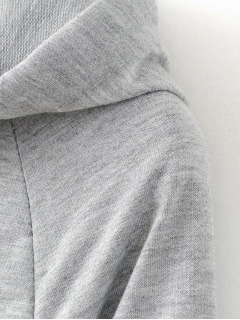 hot Casual Flare Sleeve Hoodie - BLACK XL Mobile
