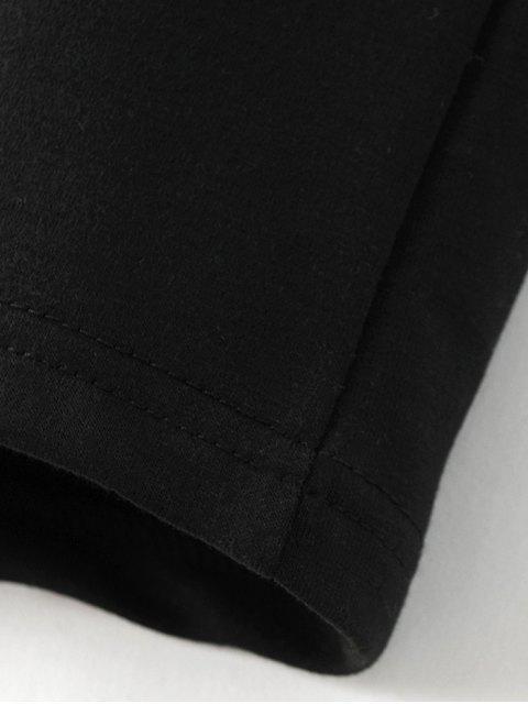 shops Printed Overzied Sweatshirt - BLACK L Mobile