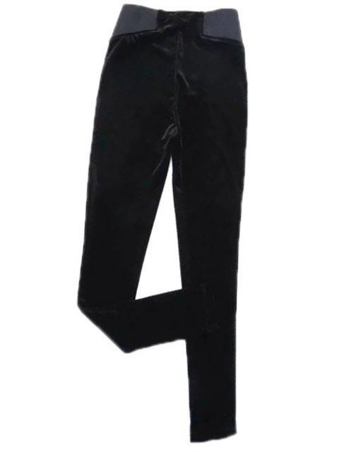 women's Velvet Narrow Feet Pants -   Mobile