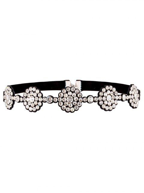 outfits Faux Leather Rhinestoned Choker - WHITE  Mobile