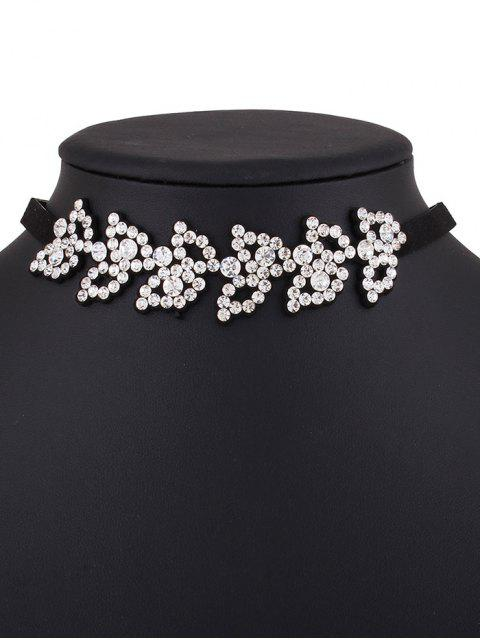 outfits Rhinestone Fake Leather Choker Necklace -   Mobile