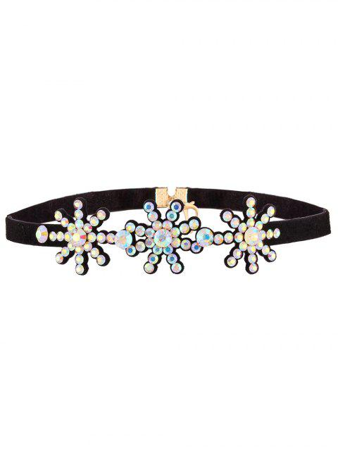 fashion Snowflake Rhinestone Choker - COLORFUL  Mobile