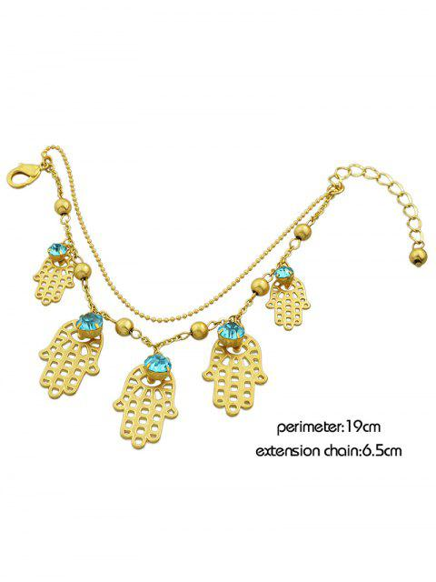 new Rhinestone Beads Palm Charm Bracelet -   Mobile