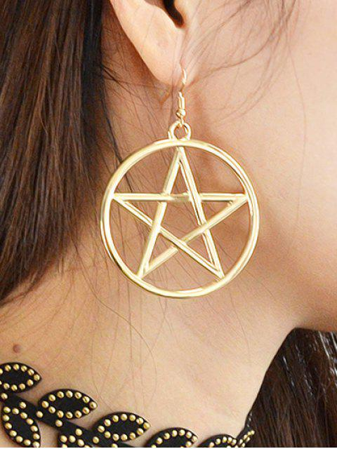 unique Star Circle Earrings -   Mobile