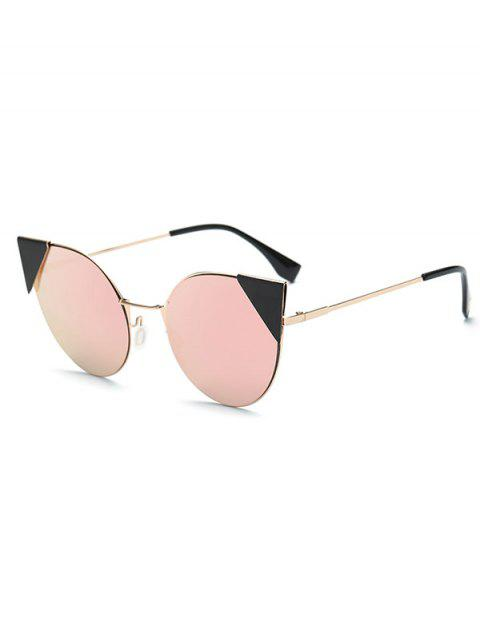 womens Triangle Insert Cat Eye Mirrored Sunglasses -   Mobile