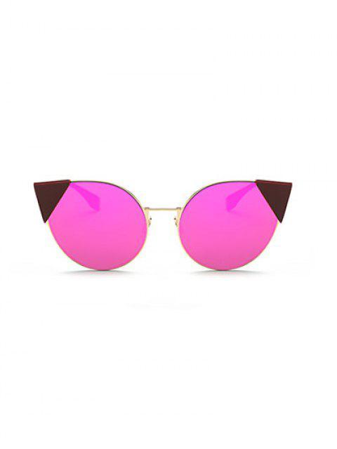 women Triangle Insert Cat Eye Mirrored Sunglasses -   Mobile