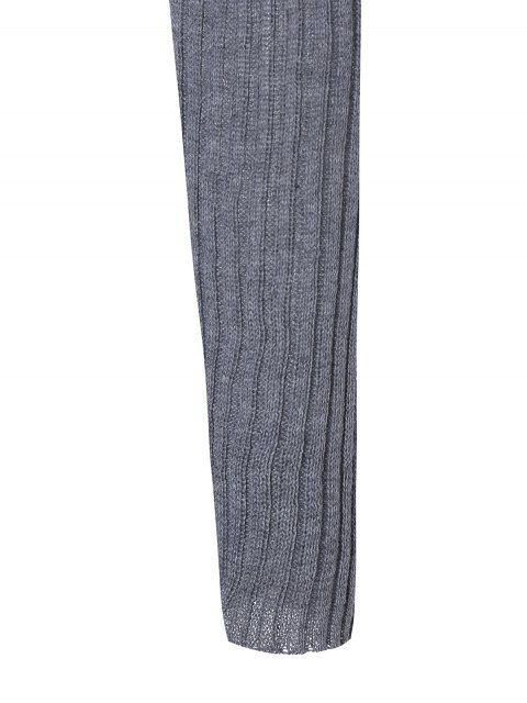 women Stand Neck Wool Blend A Line Dress - GRAY S Mobile