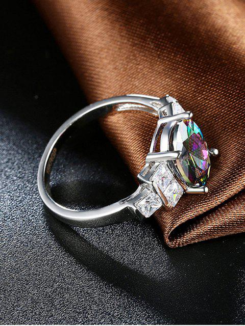 affordable Oval Rhinestone Circle Ring -   Mobile