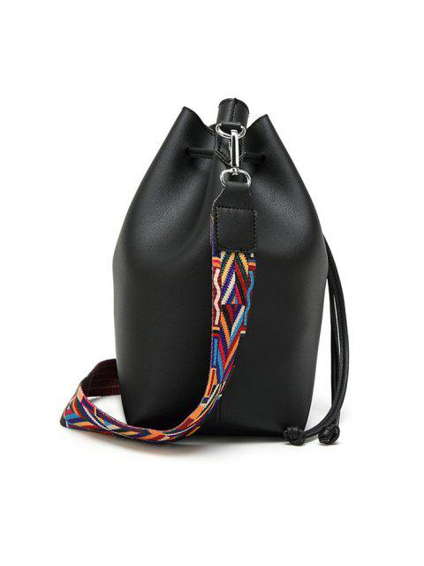 lady Drawstring Bucket Bag With Coin Purse -   Mobile