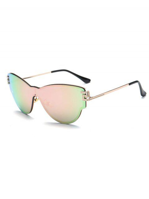 shops Butterfly Wrap Mirrored Sunglasses - PINK  Mobile