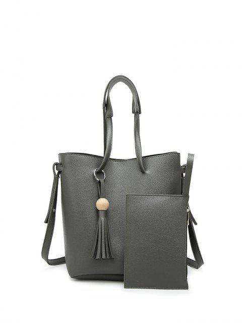 outfit Tassel Shoulder Bag With Wristlet -   Mobile
