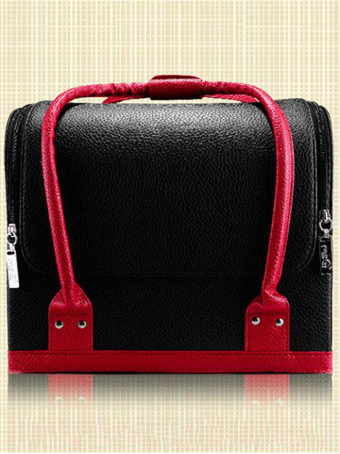 buy Waterproof Faux Leather Makeup Case -   Mobile