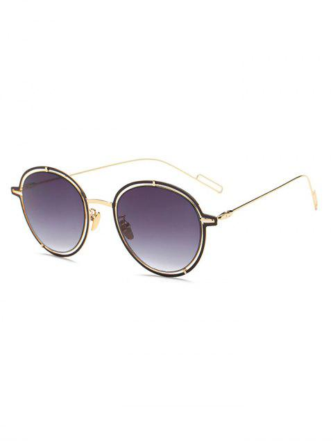 chic Double Rims Metal Oval Sunglasses -   Mobile