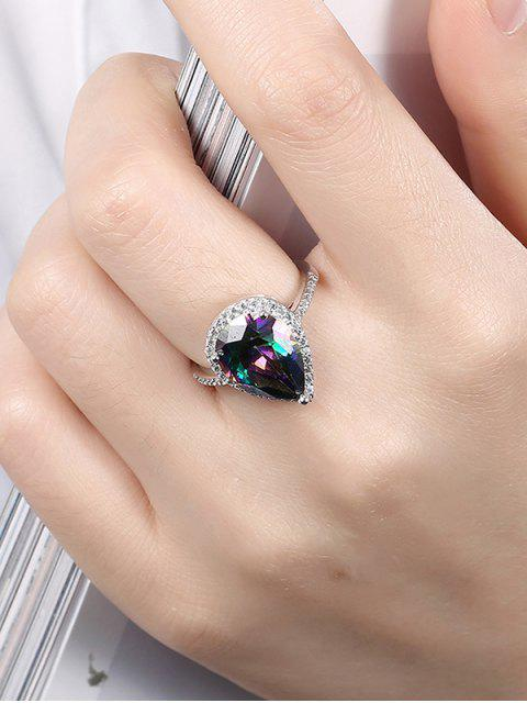 outfit Teardrop Rhinestone Ring -   Mobile