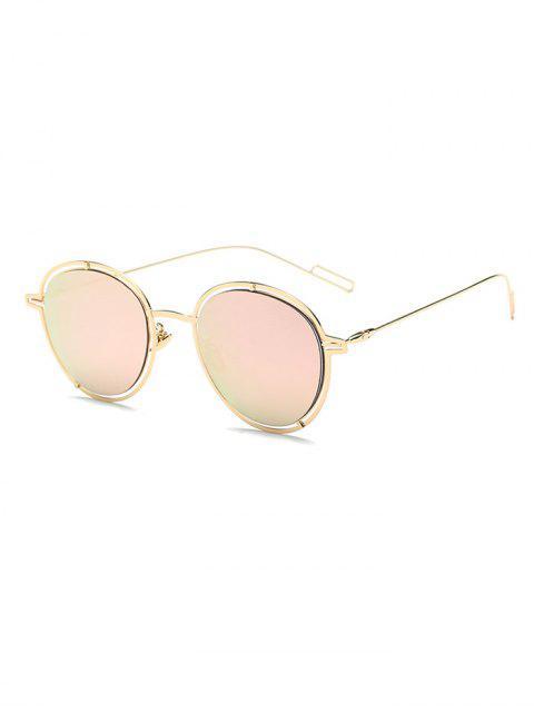 unique Double Rims Metal Oval Mirrored Sunglasses -   Mobile