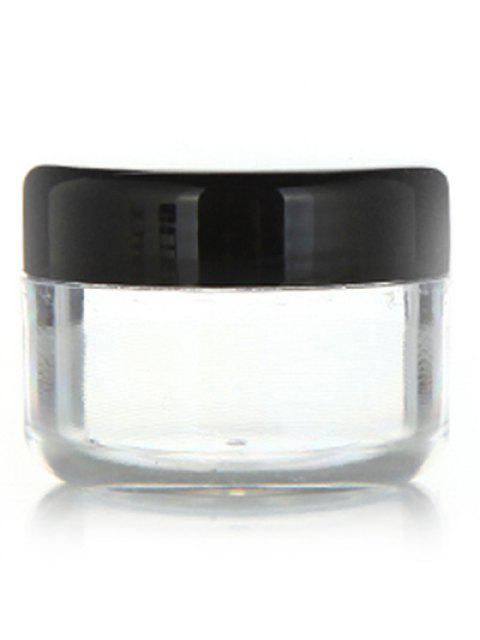 lady 2 Pcs Travel Cosmetic Empty Jars - BLACK  Mobile