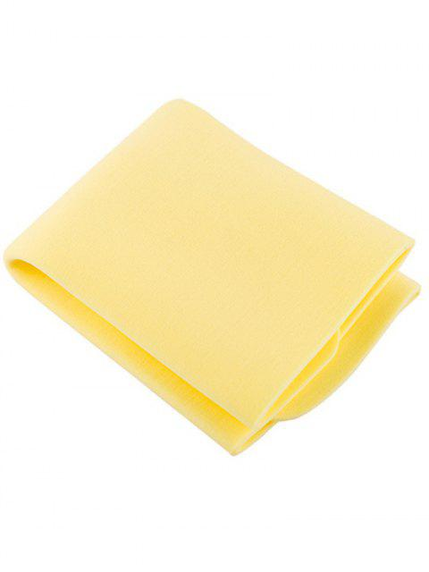sale Sponge Travel Face Washcloth - YELLOW  Mobile